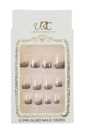 Unlimited Beauty Care Nails 1 Pre-Glued Nails - Patterns (12 pieces)