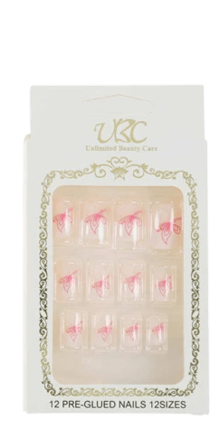 Unlimited Beauty Care Nails 3 Pre-Glued Nails - Patterns (12 pieces)