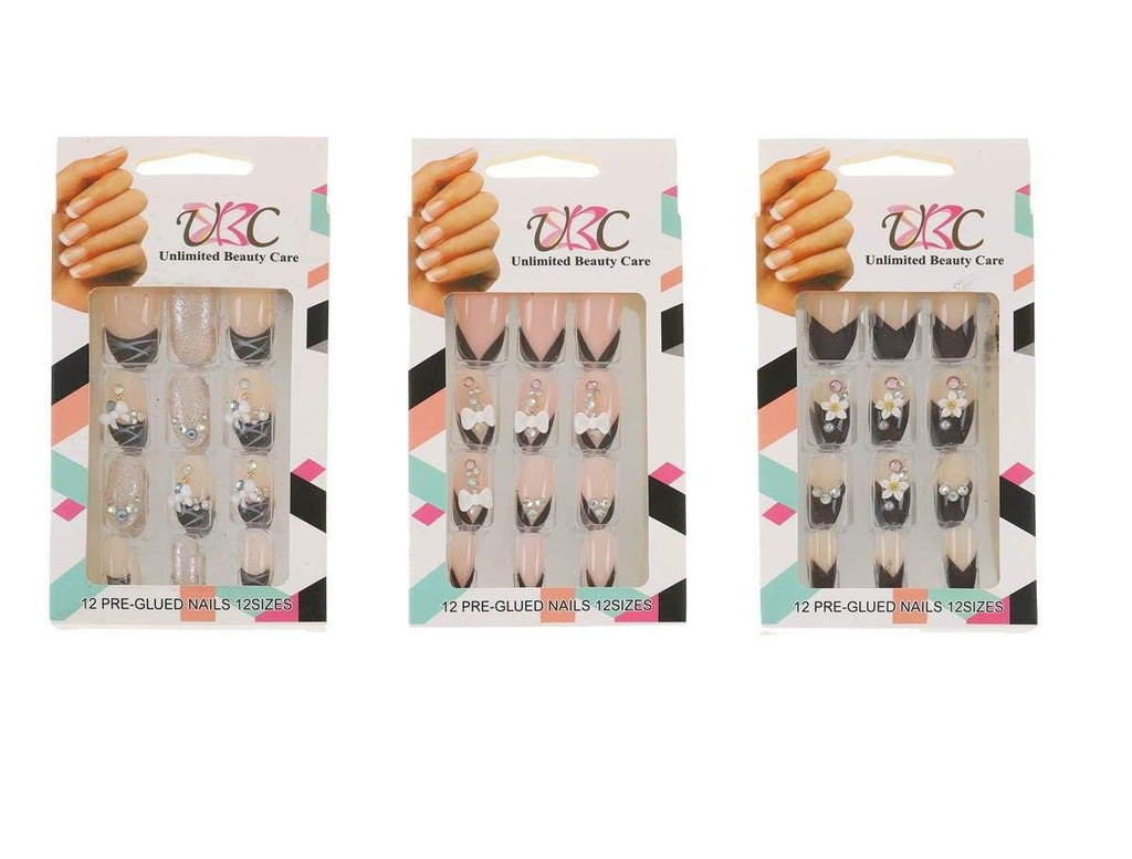 Unlimited Beauty Care Nails 3D Pre-Glued Multicolor Nails