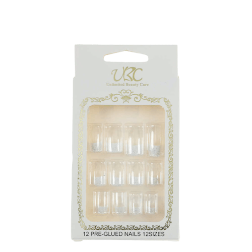 Unlimited Beauty Care Nails Pre-Glued French Manicure Nails