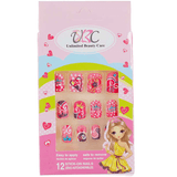 Stick-On Nails for Kids - Hearts/Crown Design