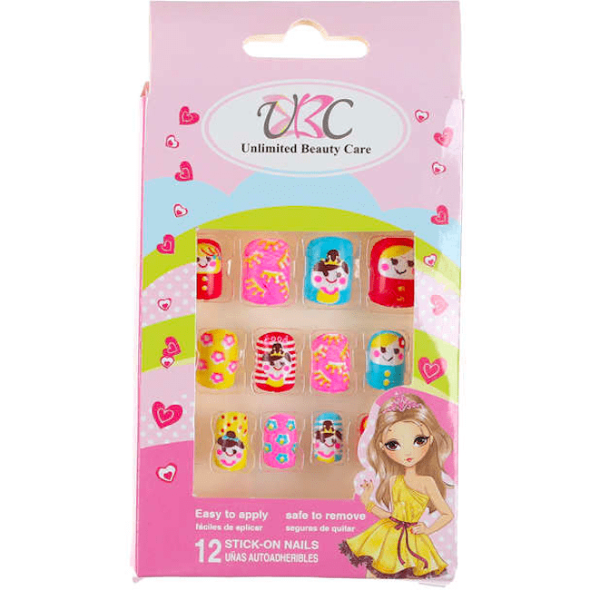 Stick-On Nails for Kids - Little Princess Theme