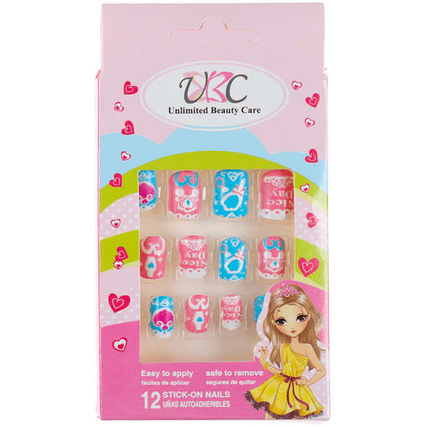 "Stick-On Nails for Kids - ""Nice Day"" Design"