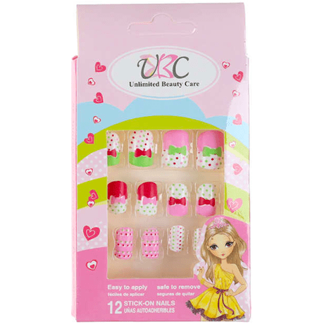 Stick-On Nails for Kids - Polka Dots Design