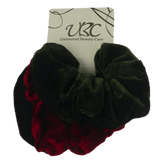 Unlimited Beauty Care Scrunchies 1-Black/Dark Red/Olive Multicolor Velvet Scrunchies