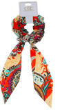 Unlimited Beauty Care Scrunchies 1 Colorful Paisley Pony Scarf