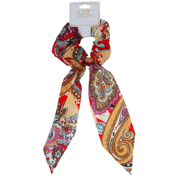 Unlimited Beauty Care Scrunchies 3 Colorful Paisley Pony Scarf