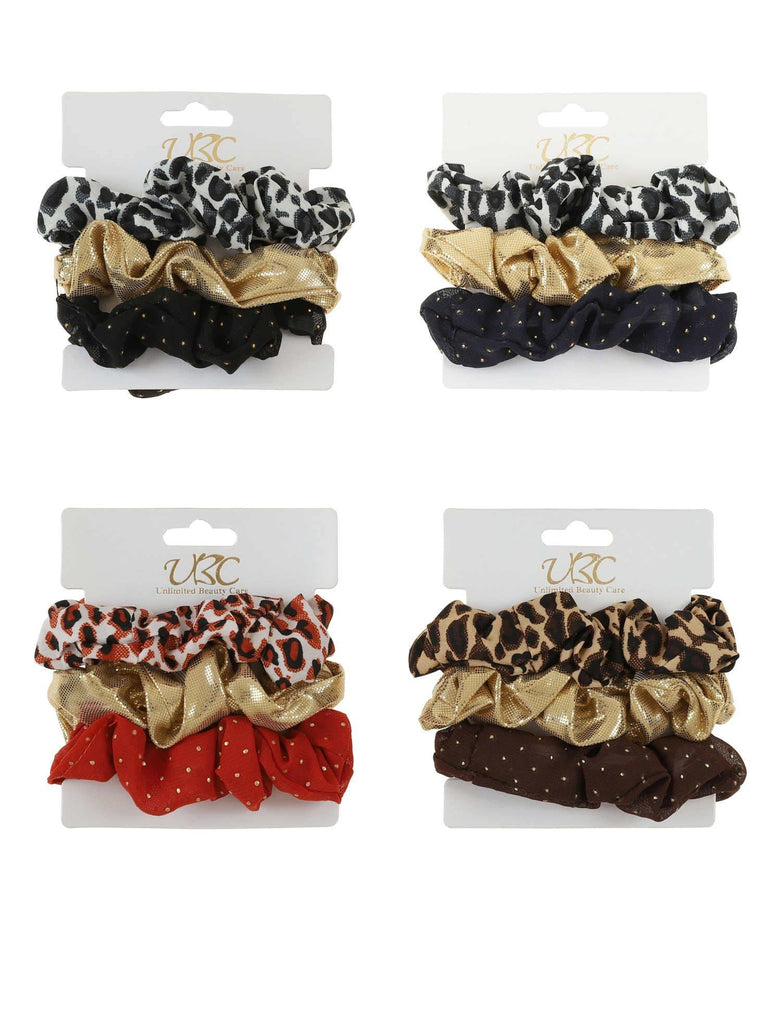 Unlimited Beauty Care Scrunchies 3 piece Cheetah Scrunchies