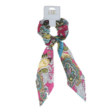 Unlimited Beauty Care Scrunchies 4 Colorful Paisley Pony Scarf