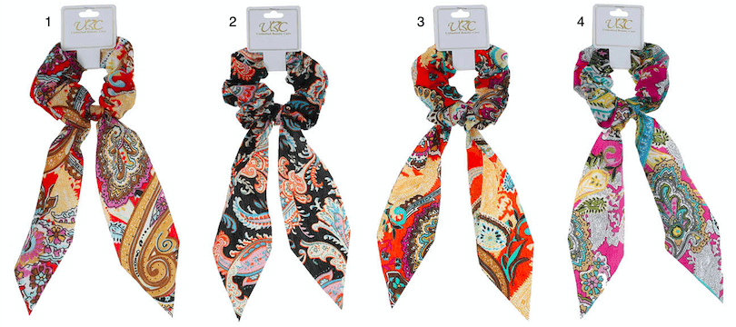Unlimited Beauty Care Scrunchies Colorful Paisley Pony Scarf