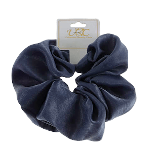 Unlimited Beauty Care Scrunchies Dark Blue Multicolor Solid Print Scrunchie