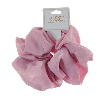Unlimited Beauty Care Scrunchies Light Pink Multicolor Solid Print Scrunchie