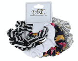 Unlimited Beauty Care Scrunchies Set 1 Multicolor Stripes Scrunchies
