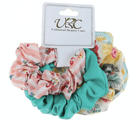 Unlimited Beauty Care Scrunchies Set 2 Multicolor Stripes Scrunchies