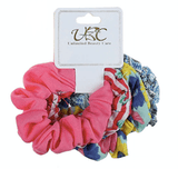 Unlimited Beauty Care Scrunchies Set 3 Multicolor Stripes Scrunchies