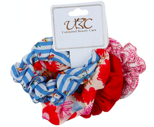 Unlimited Beauty Care Scrunchies Set 4 Multicolor Stripes Scrunchies