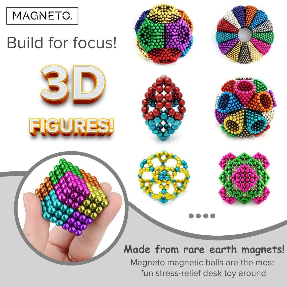 Magneto Toys Magnetic Balls Magnetic Balls - Desk Toy - Magnetic Game - Stress Relief Toys for Adults