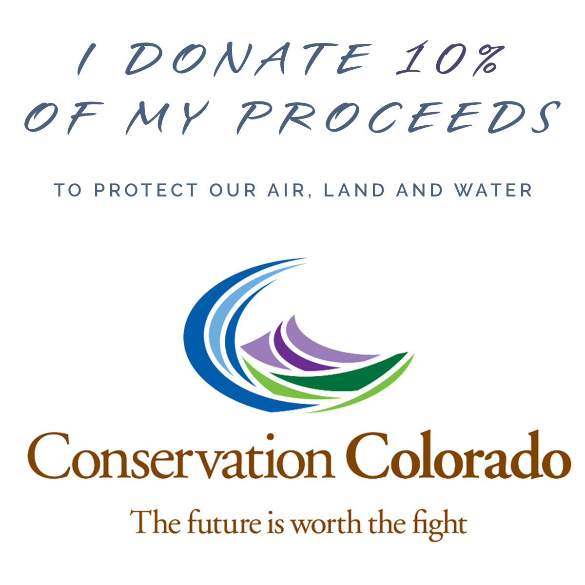Earth Song Jewelry - Donating to protect the environment with Green Leadership with Conservation Colorado