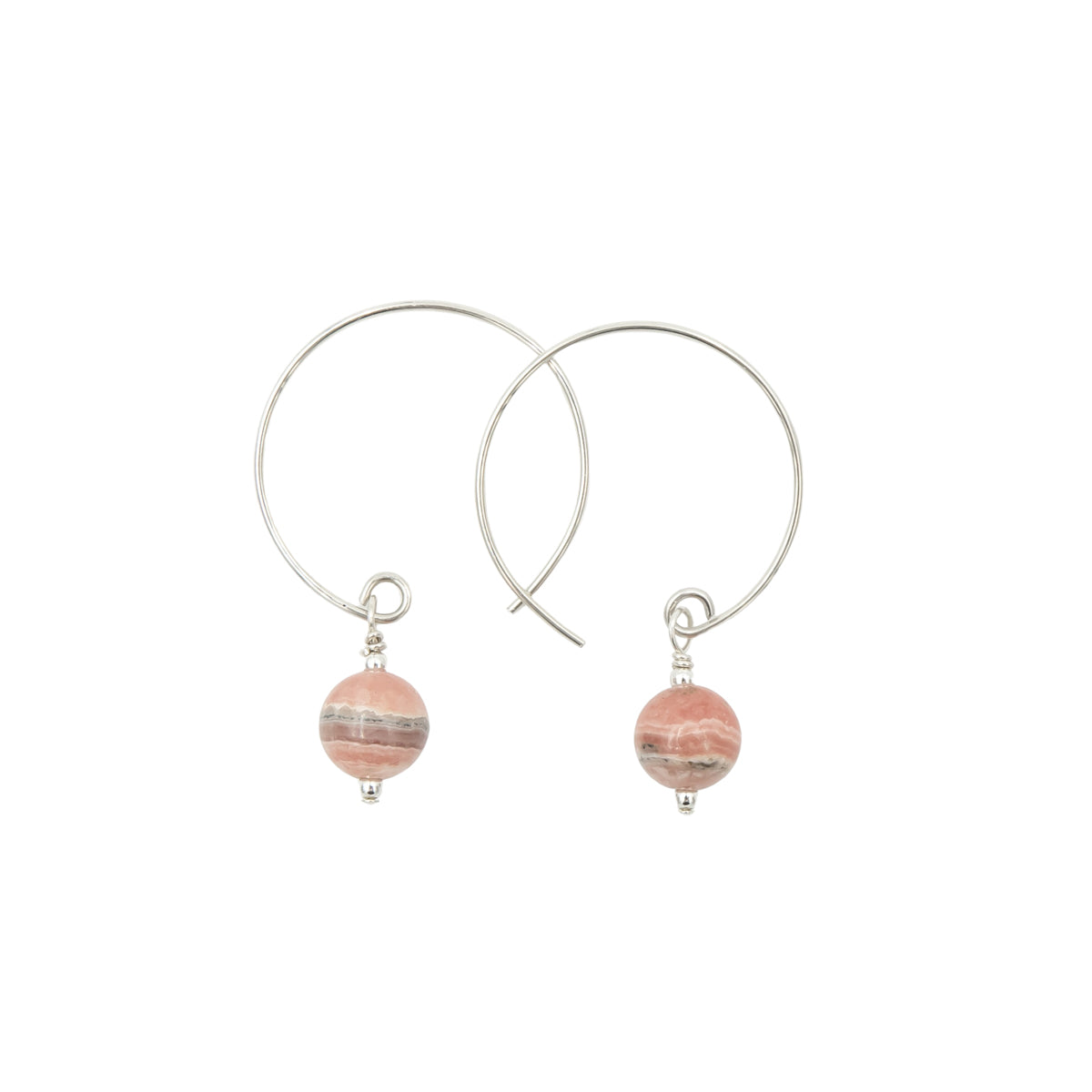 Earth Song Jewelry Handmade Earrings Collection - hoops style sterling silver and copper