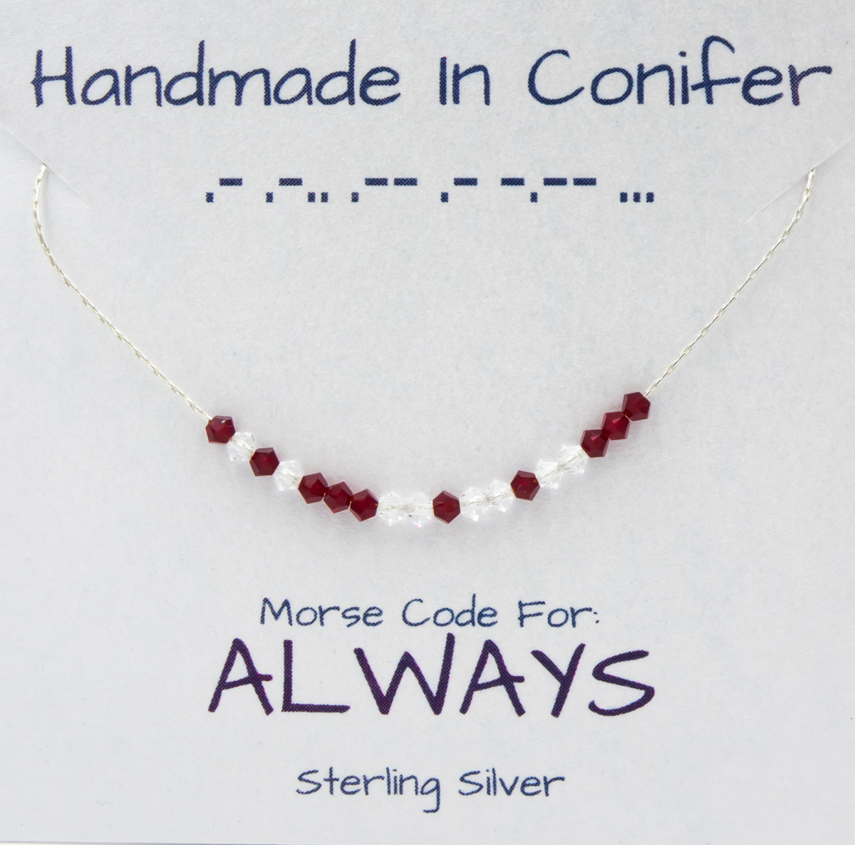 Earth Song Jewelry Handmade Morse Code sterling silver Necklace collection