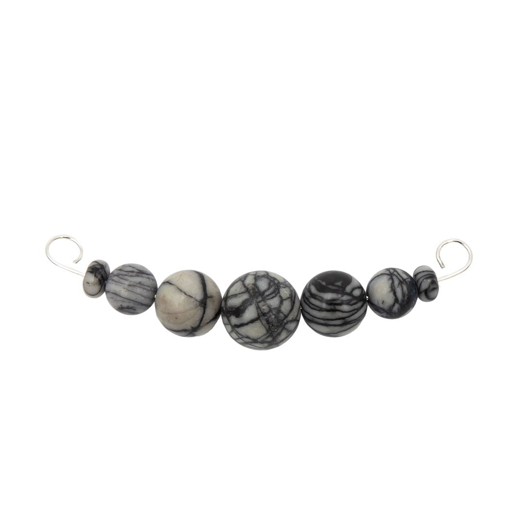Silk Stone Interchangeable Sterling Silver Necklace