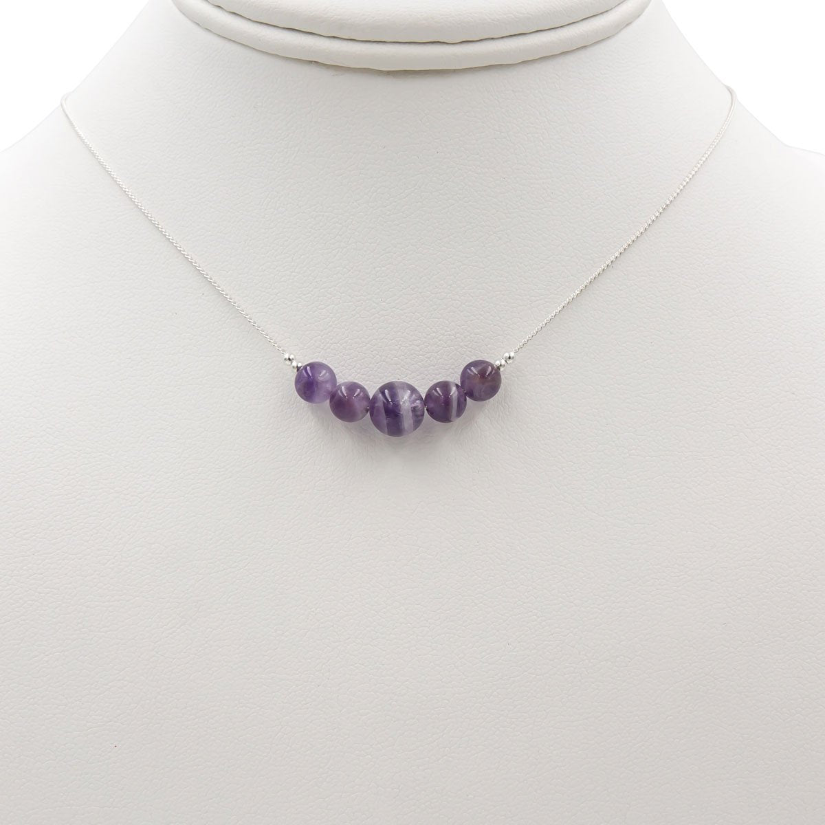Handmade Amethyst sterling silver necklace