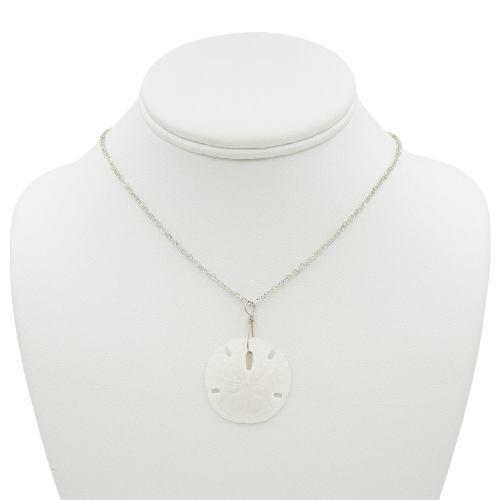 By The Sea - Sand Dollar Silver Necklace Handmade In Conifer Jewelry