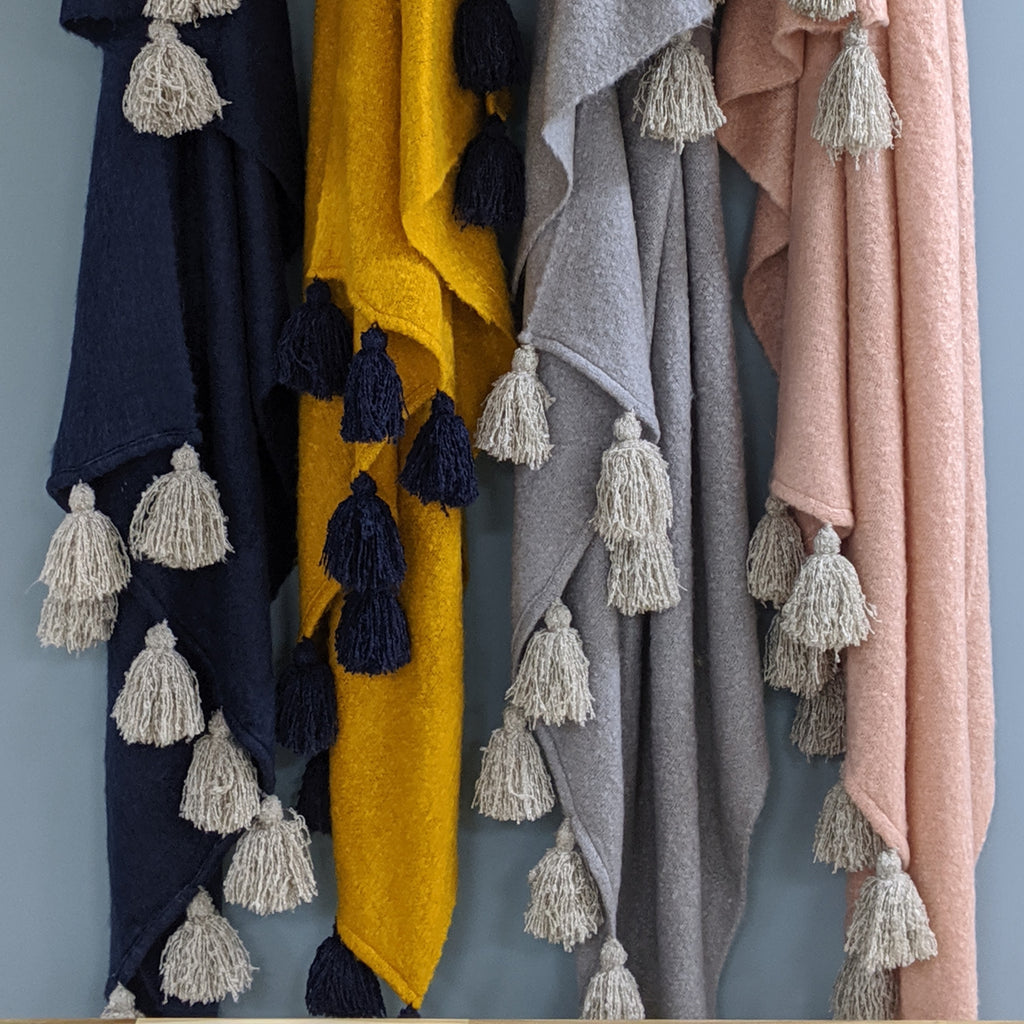 Romilly tassel throws