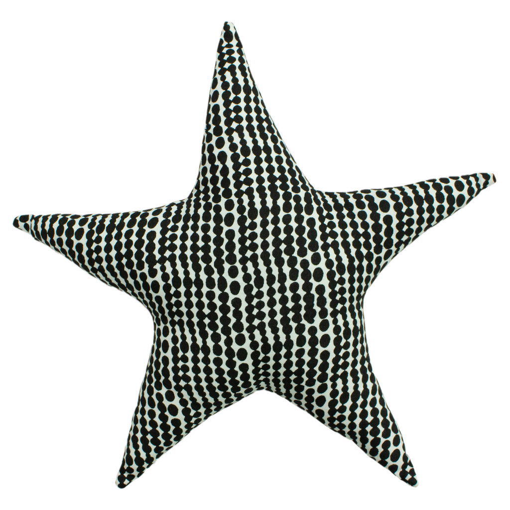 Printed Star Cushion in Mono/Pink