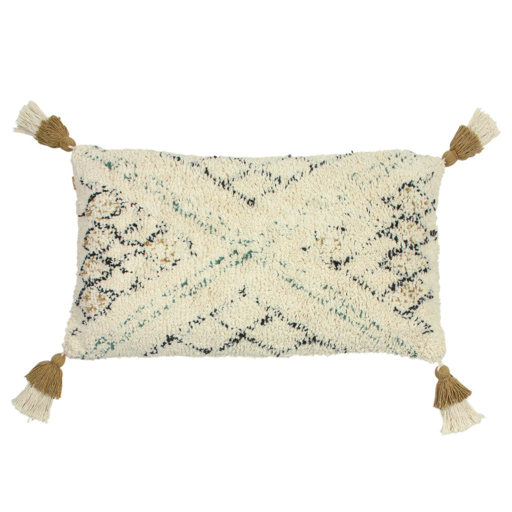 Atlas Tufted Cushion in Moss