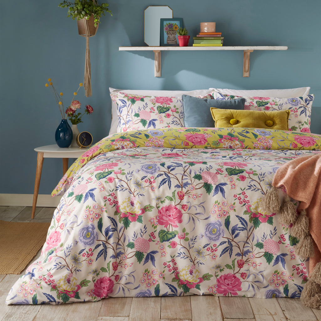 Azalea Duvet Cover Set in Bamboo