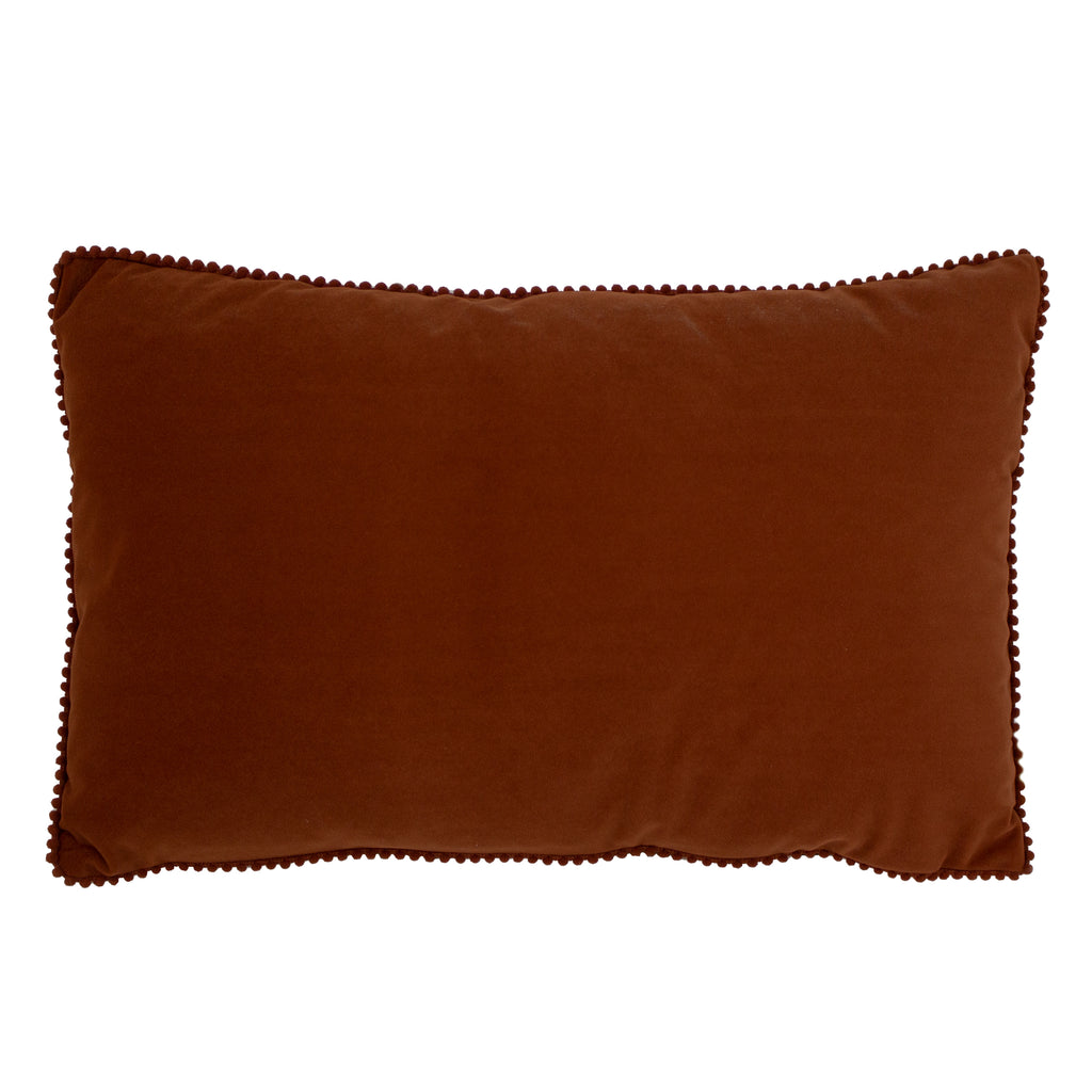 Cosmo Velvet Cushion in Brick