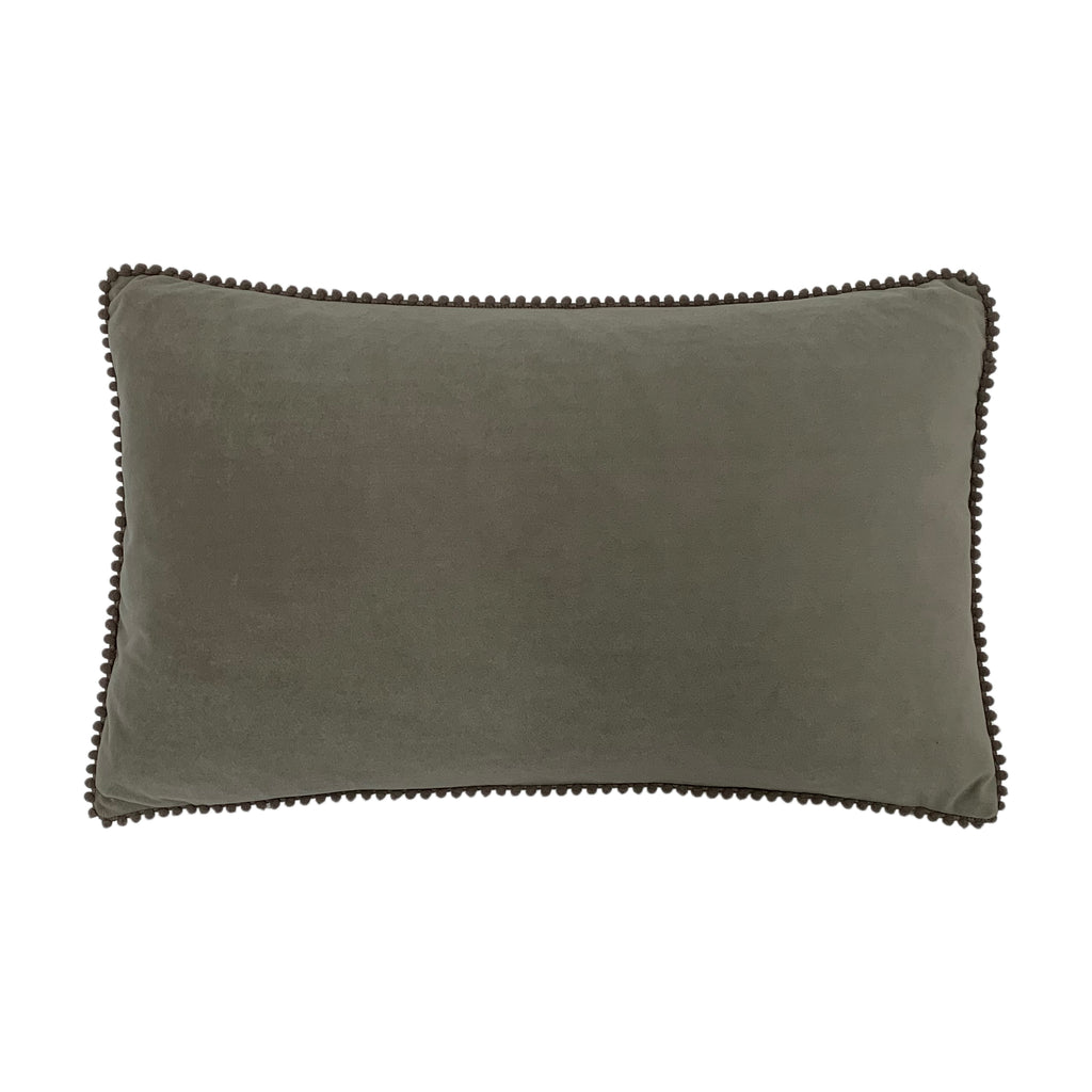 Cosmo Velvet Cushion in Grey