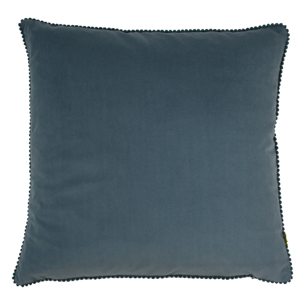 Cosmo Velvet Cushion in Blue