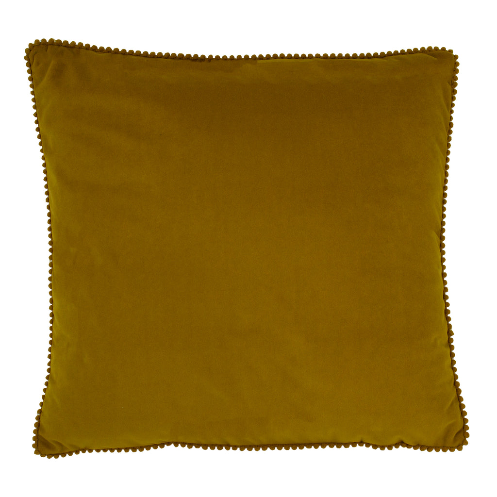 Cosmo Velvet Cushion in Ochre