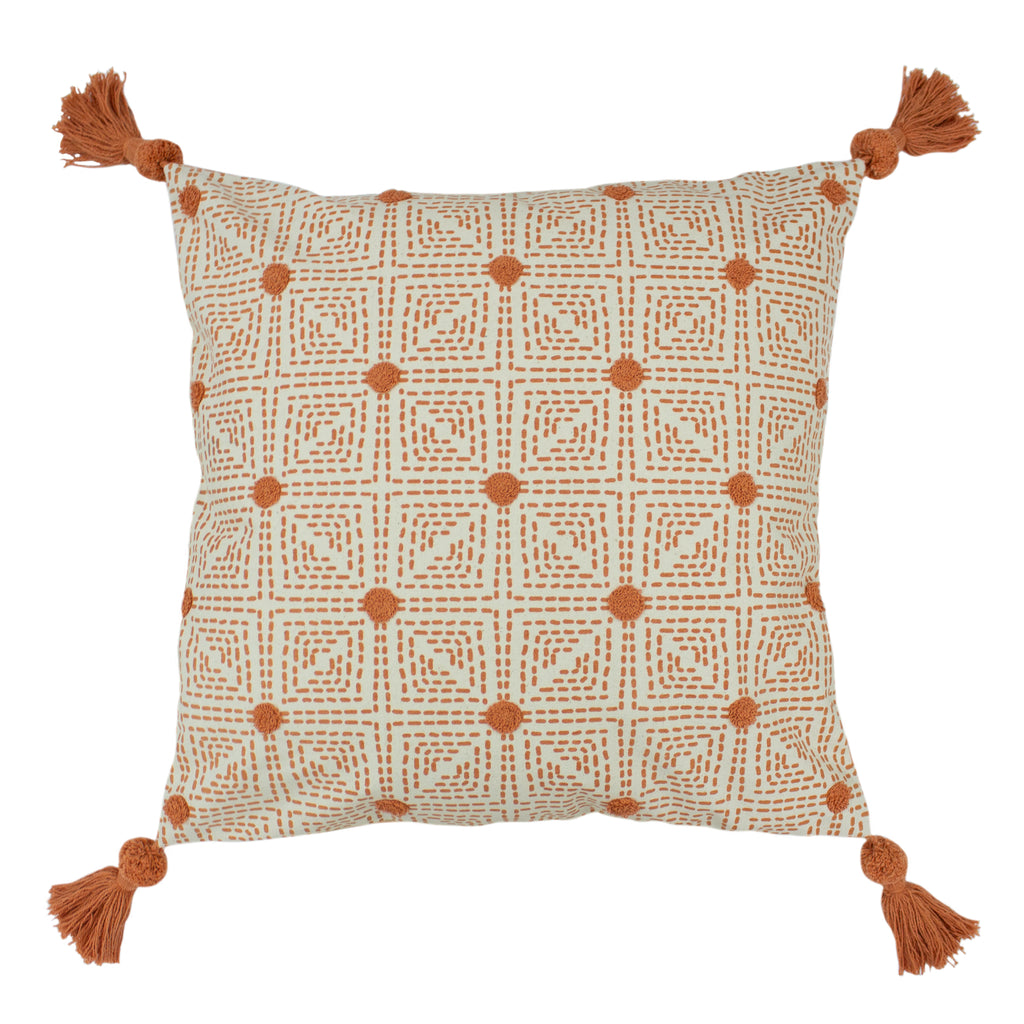 Chia Cushion in Coral