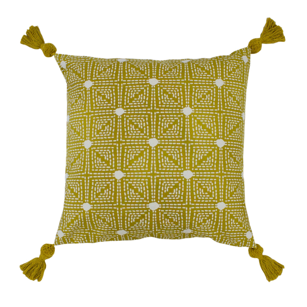 Chia Cushion in Ochre