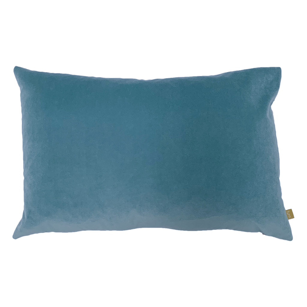Contra Velvet/Linen Cushion in Mist Blue