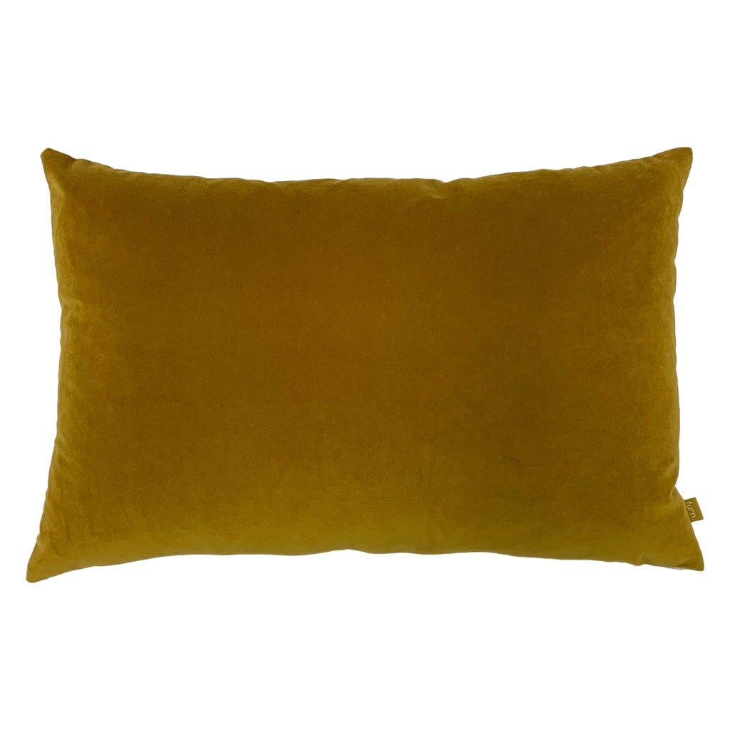 Contra Velvet/Linen Cushion in Mustard