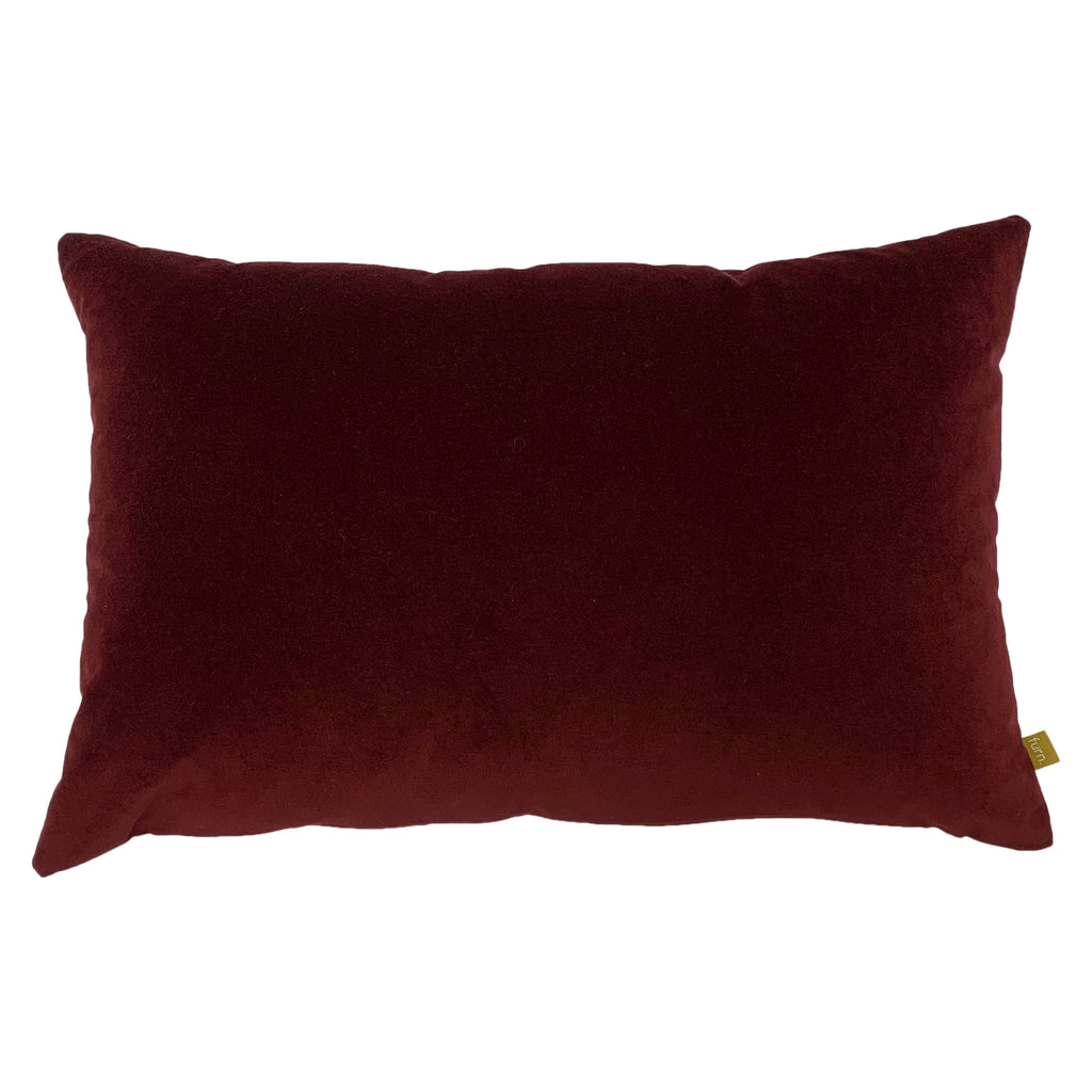 Contra Velvet/Linen Cushion in Ox Blood