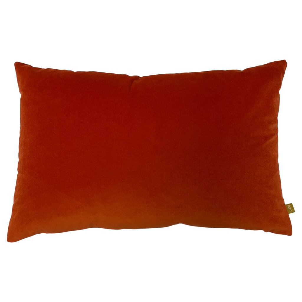 Contra Velvet/Linen Cushion in Tangerine