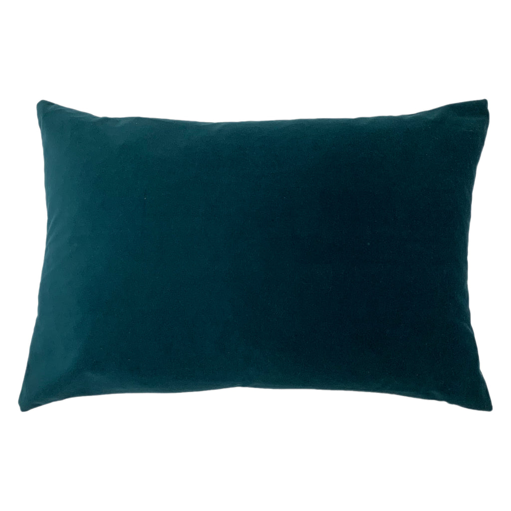 Contra Velvet/Linen Cushion in Teal