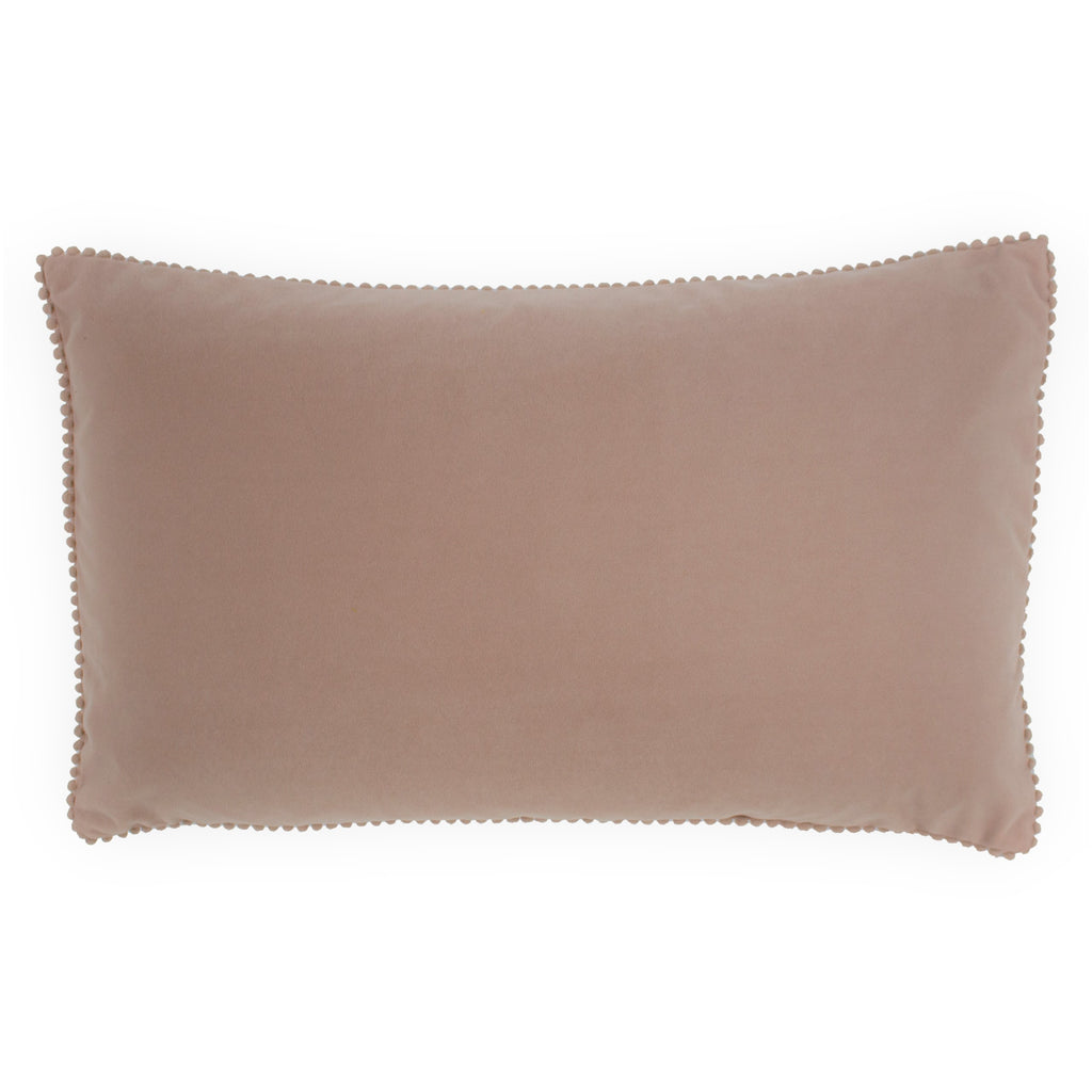 Cosmo Velvet Cushion in Blush