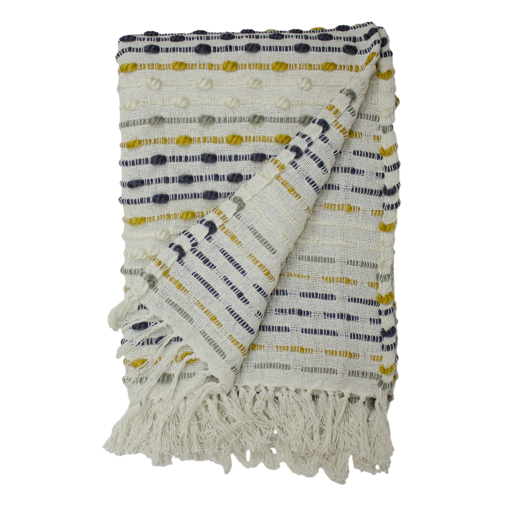 Dhadit Throw in Ochre