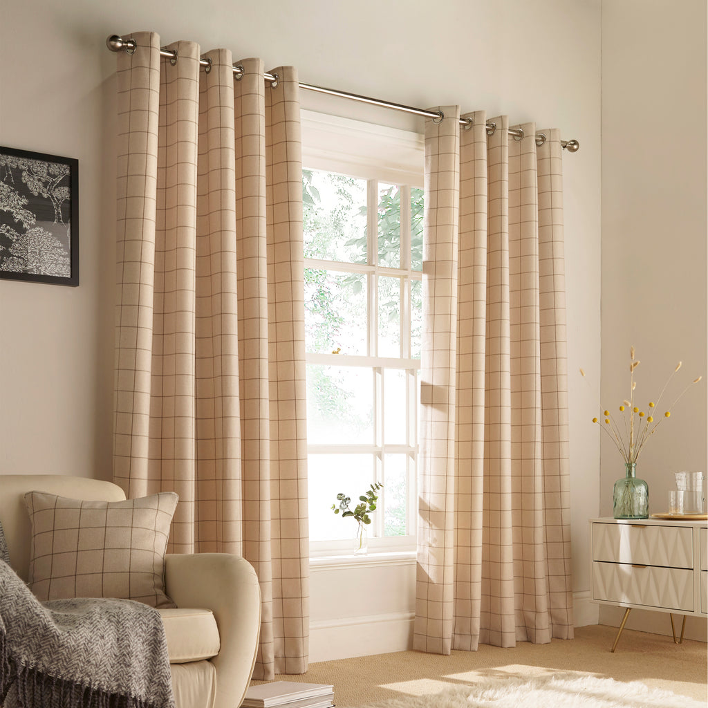 Ellis Ring Top Curtains in Natural