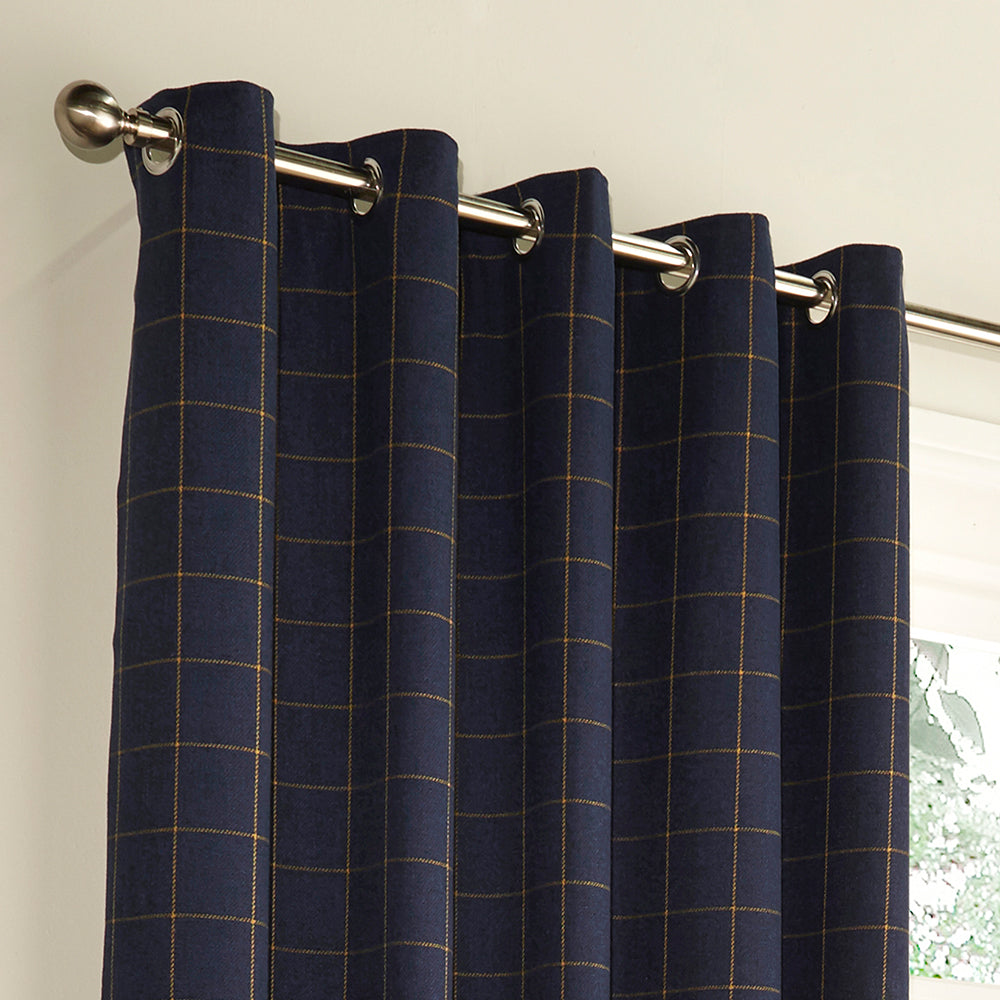 Ellis Eyelet Curtains in Navy