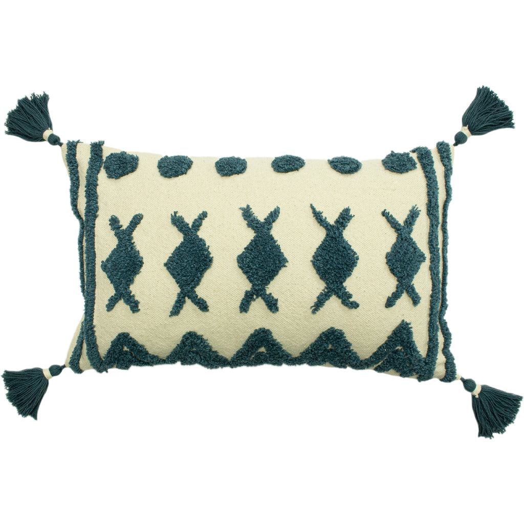 Esme Tufted Cushion in Teal