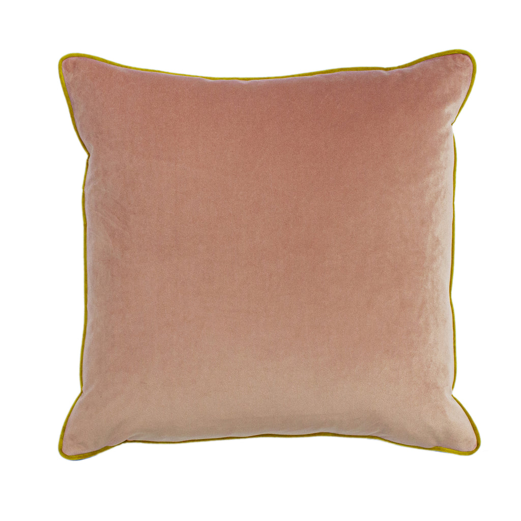 Gemini Cushion with Double Pipe, in Blush/Bamboo/Teal