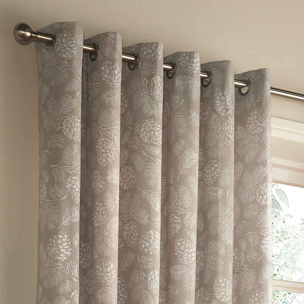 Irwin Eyelet Curtains in Stone