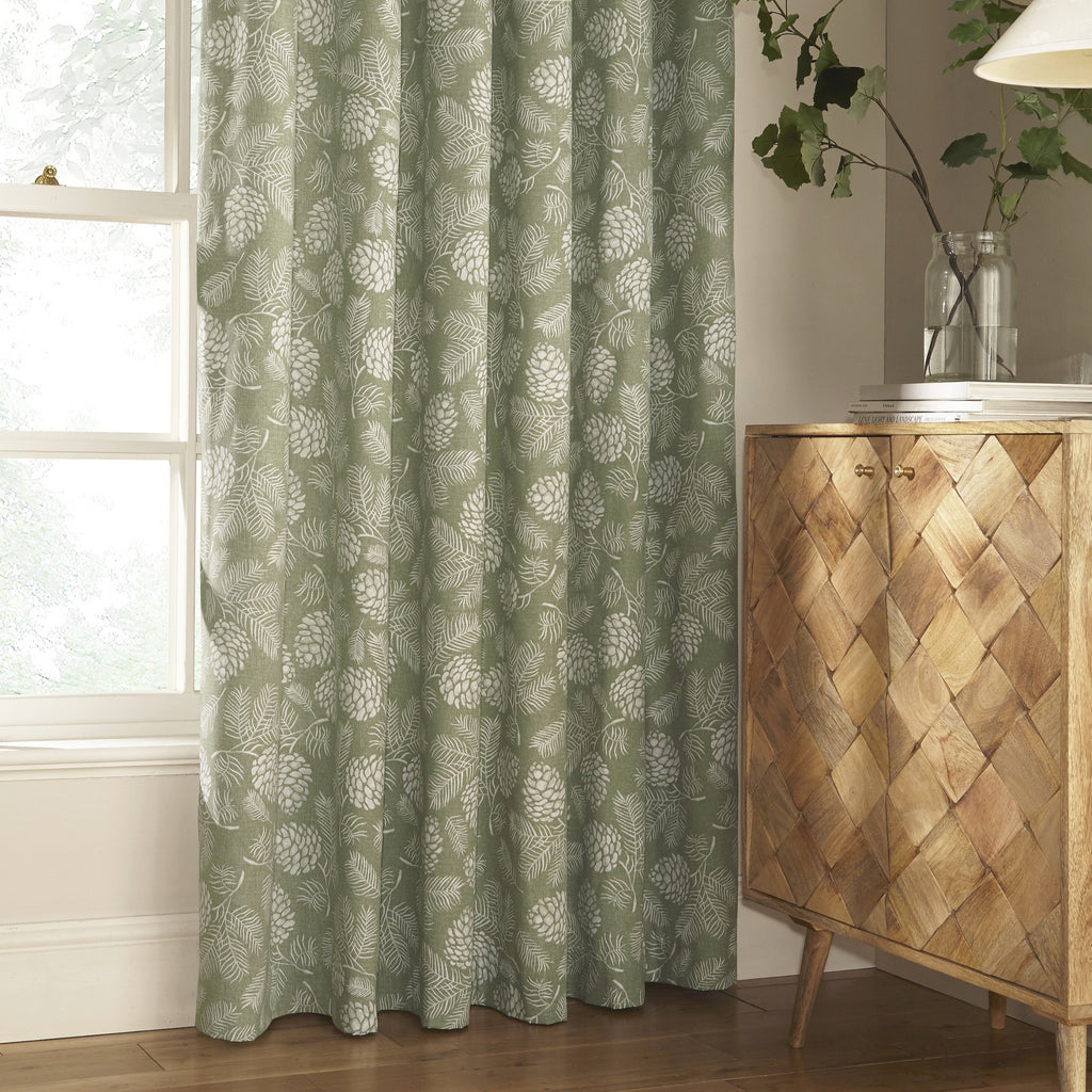 Irwin Eyelet Curtains in Sage